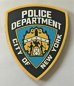 NYPD-New-York-Police-Department-Linea-Azul-Pvc-Parche-Hook-amp-Loop-Swat-sello-PMO-1302