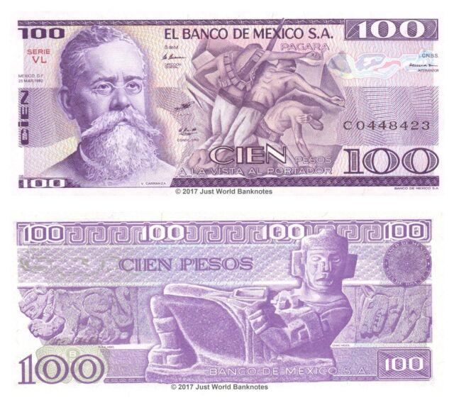 Mexico 100 Pesos 1982 P-74c Banknotes UNC