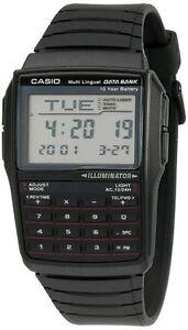 Casio Data Bank Calculator Men's Wrist Watch - Black