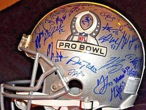 fb523323078 2018 NFL Pro Bowl 76 Autograph Helmet Drew Brees Russell Wilson ...