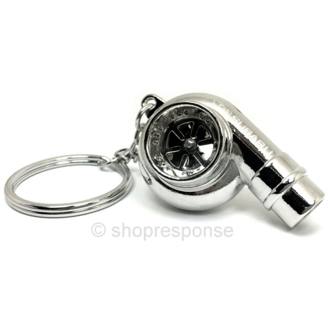 Subaru Metal Turbo Whistle Keychain Key Holder Key Ring Key Tag Silver Official