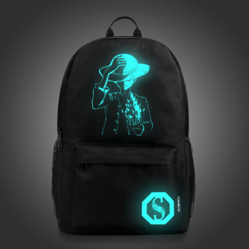 Kids Luminous Backpack Glow In the Dark With USB Charger Boy Casual School Bags
