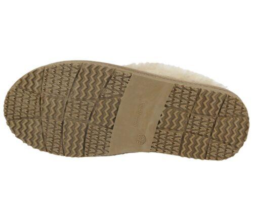 Ladies Girls Glitter Faux Fur Trim Lined Slip On Warm Winter Slippers Mules Shoe