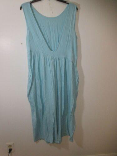 Woman's Jumpsuit Mint green  sleeveless pockets X