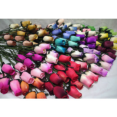 Mothers Day Flowers Gift For Mum 175 Wooden Roses Wholesale Mixed Box Of Colours