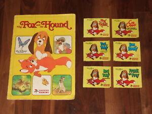 Disney-039-s-The-Fox-amp-The-Hound-Complete-Panini-Sticker-Album-amp-more