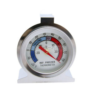 FRIDGE//FREEZER THERMOMETER STAINLESS STEEL