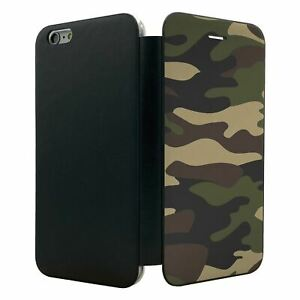 IPhone-6-Plus-Flip-Wallet-Case-Cover-Camouflage-Muster-s93