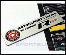 R Line Badge Emblem Sticker Decal VW Sportsline MotorSports Boot Trunk R20 T35