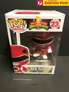 POWER-RANGERS-RED-RANGER-FUNKO-POP-VINYL-FIGURE-VAULTED-23-RARE-DAMAGED-BOX