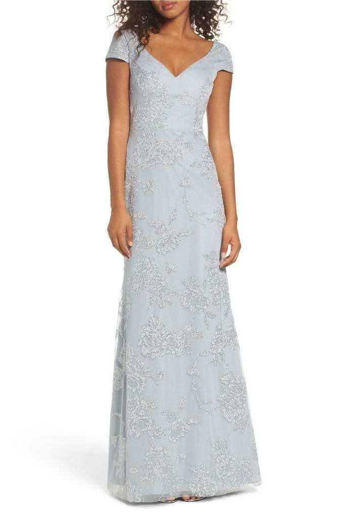 Hayley Paige Occasions Beaded Trumpet Gown- Size 2 -(F)