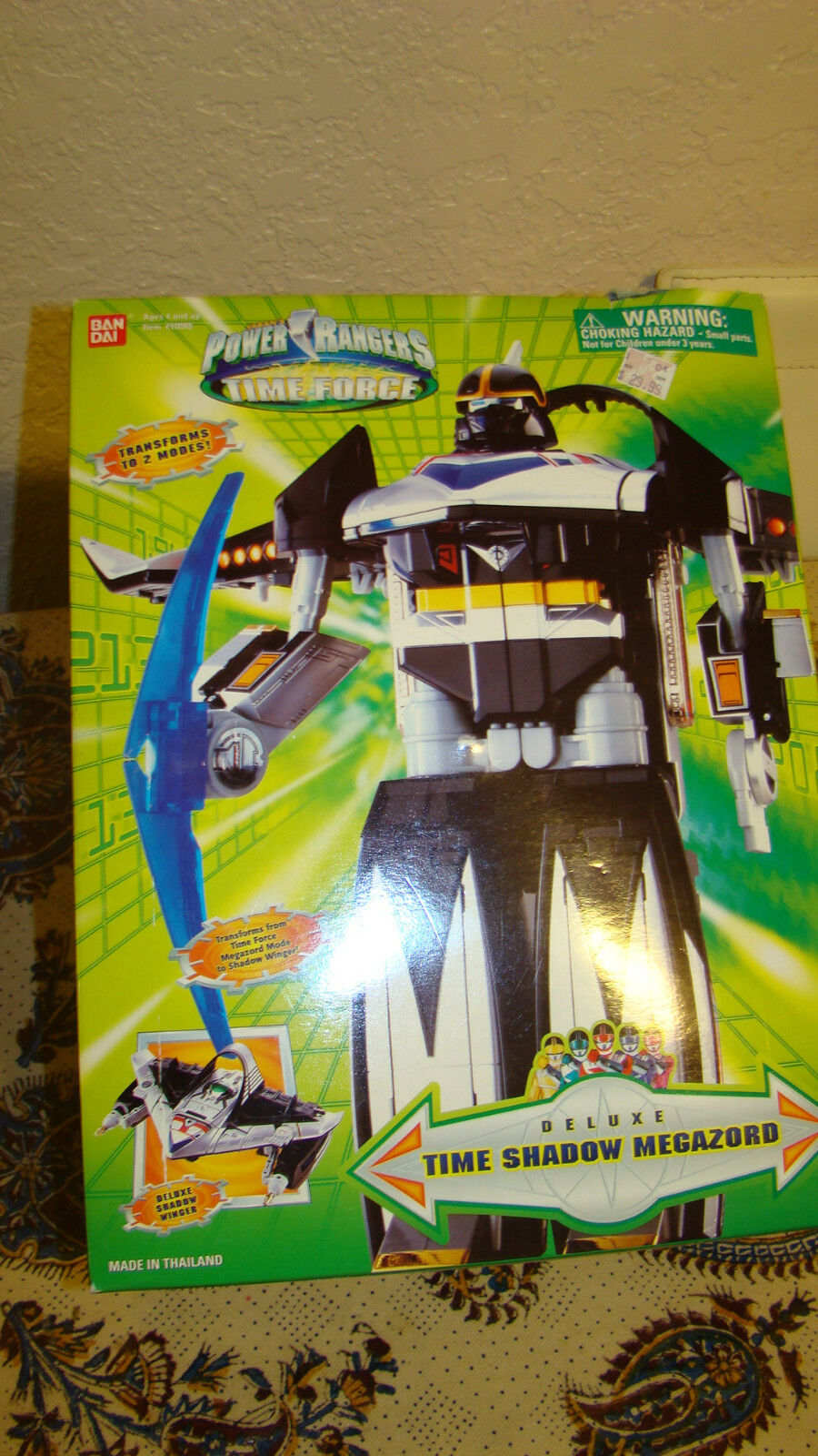 Power Rangers Time Force Deluxe Time Shadow Megazord with Original  Box RARE