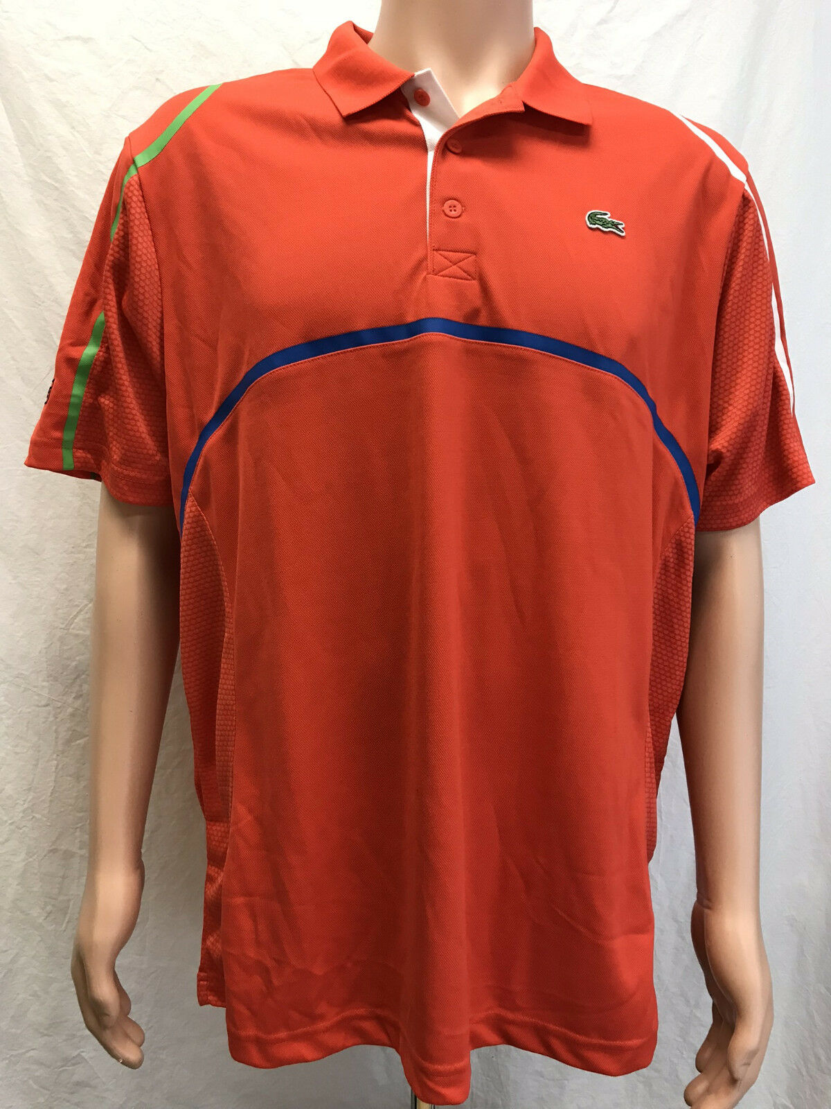 Lacoste Sports  Herren short sleeve Ultra Dry Tennis Polo Shirt DH76711, ROT, XXL