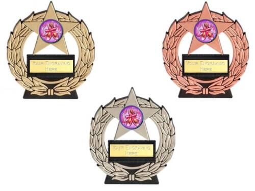 BALLET DANCE mega star dancing trophy free engraving gold silver bronze trophies