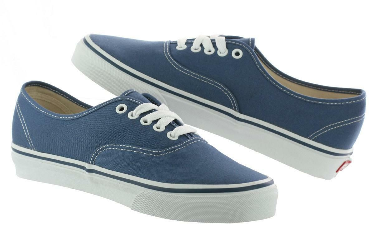 Vans Authentic Classic Sneakers Canvas Damens Mens Of The Wall Laces Schuhes Navy