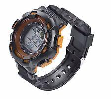 Big Dial Kids Boys Wristwatch Alarm Chronometer Digital Wrist Watch Orange CD
