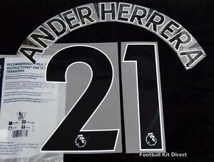 size 40 0811c 61d7e Details about Manchester United Ander Herrera Football Shirt Name Set  2017/18 Away Sporting ID