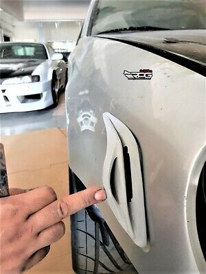 RPG Carbon Side Fender Marker Vents Scoops Air Duct for 02-03 Impreza WRX STi