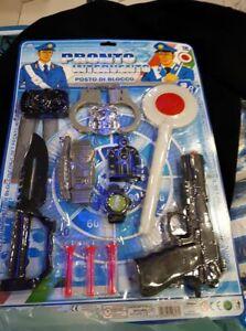Set poliziotto manette pistola paletta kit gioco di qualità giocattolo toy