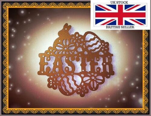 Huevo elaboración de tarjetas Conejo artesanía plantilla hazlo tú mismo Pascua sentimiento Corte De Metales morir