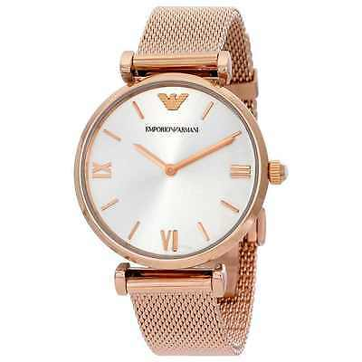 Armani Exchange Womens Geo Leather Rose Gold Watch