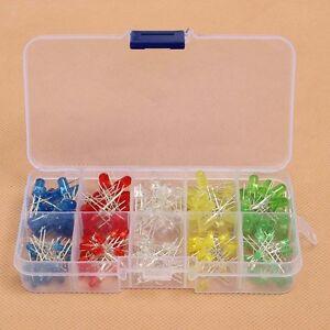 150Pcs-3mm-5mm-LED-Light-White-Yellow-Red-Green-Assorted-Assortment-Kit-DIY-Set