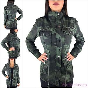 damen camouflage jacke parka milit r bergangsjacke mantel. Black Bedroom Furniture Sets. Home Design Ideas