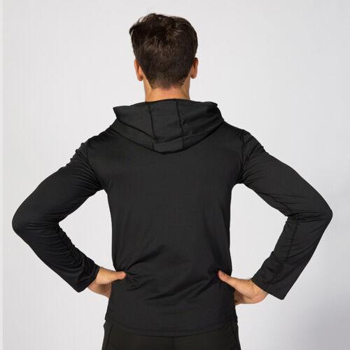Men/'s Sports Hoodie Hooded Running Basketball Gym Sweatshirt Tops Long Sleeve