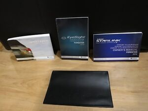 Details about 2019 Subaru FORESTER OWNERS MANUAL BOOK SET + CASE +  NAVIGATION + EYESIGHT