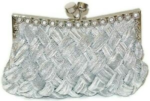 Silver-Evening-Bag-Braided-Purse-with-Clear-Crystals
