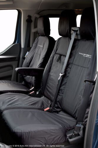 Ford Transit Custom MY18 Onward Inka Tailored Fundas impermeables Frontal Negro