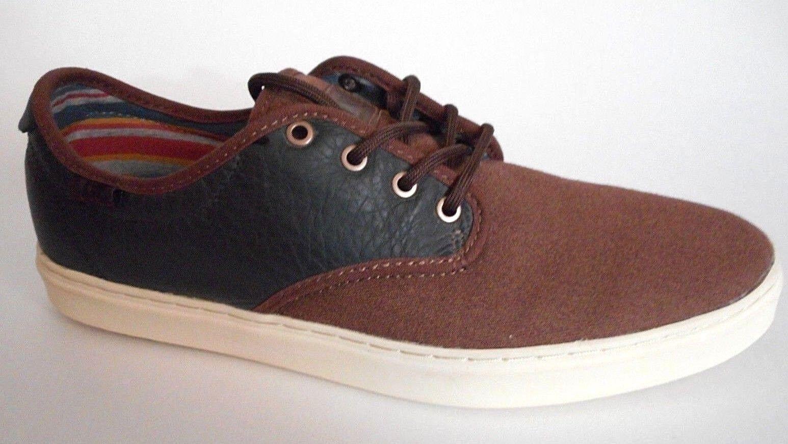brand new furgoni taglia ludlow taglia furgoni 9 brown antico nero sopra tennis pattinare le scarpe basse 97d734