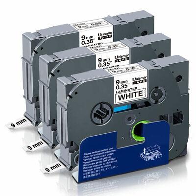 1x Schriftband-Kassette für Brother TZ-621 TZE-621 Schwarz auf Gelb 8m//9mm new