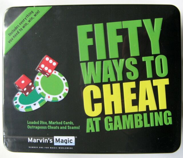 MARVINS MAGIC FIFTY 50 WAYS TO CHEAT AT GAMBLING IN TIN BOX - NEW & SEALED!!