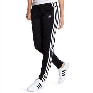Pantalones Contiene acceso  Nuevo adidas Mujer Blanco y Negro T10 3 Rayas Logo Training Del Chándal  Talla M   eBay