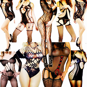 8322e7c514 Women s Lingerie Body Stockings Sleepwear Adult New Bodysuit Fishnet ...