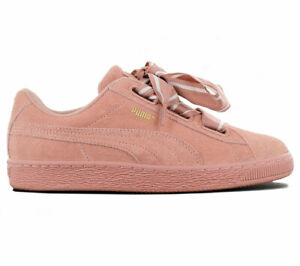 Details about Puma Suede Heart Satin II Women's Sneaker Leather Shoes Pink 364084 03 Trainers