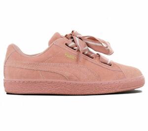 Puma Suede Heart Satin II Damen Sneaker Leder Schuhe Rosa