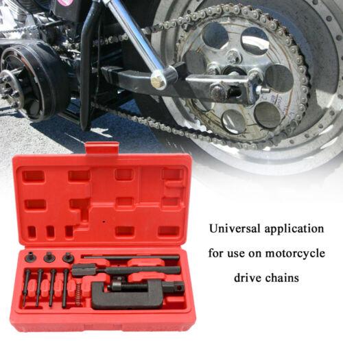 Motorcycle Bike Chain Breaker Splitter Link Riveter Bikes Riveting Tool Set M8H5