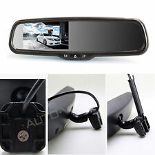 """4.3"""" LCD Car Reverse Rearview Mirror Monitor Install diy easy Dual video input"""