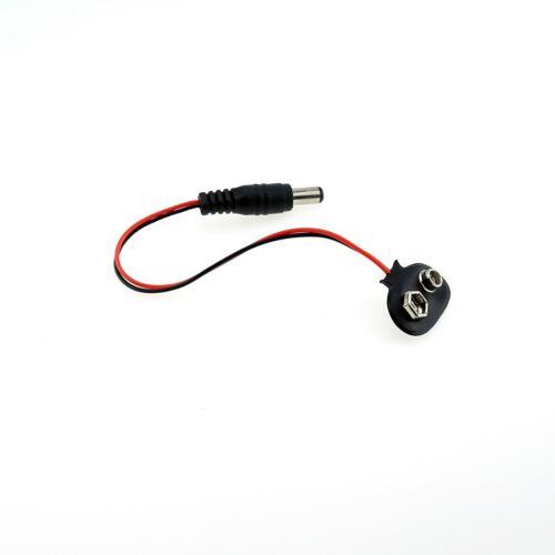 3x Batterieclip für 9V Block Batterie mit Anschlusskabel