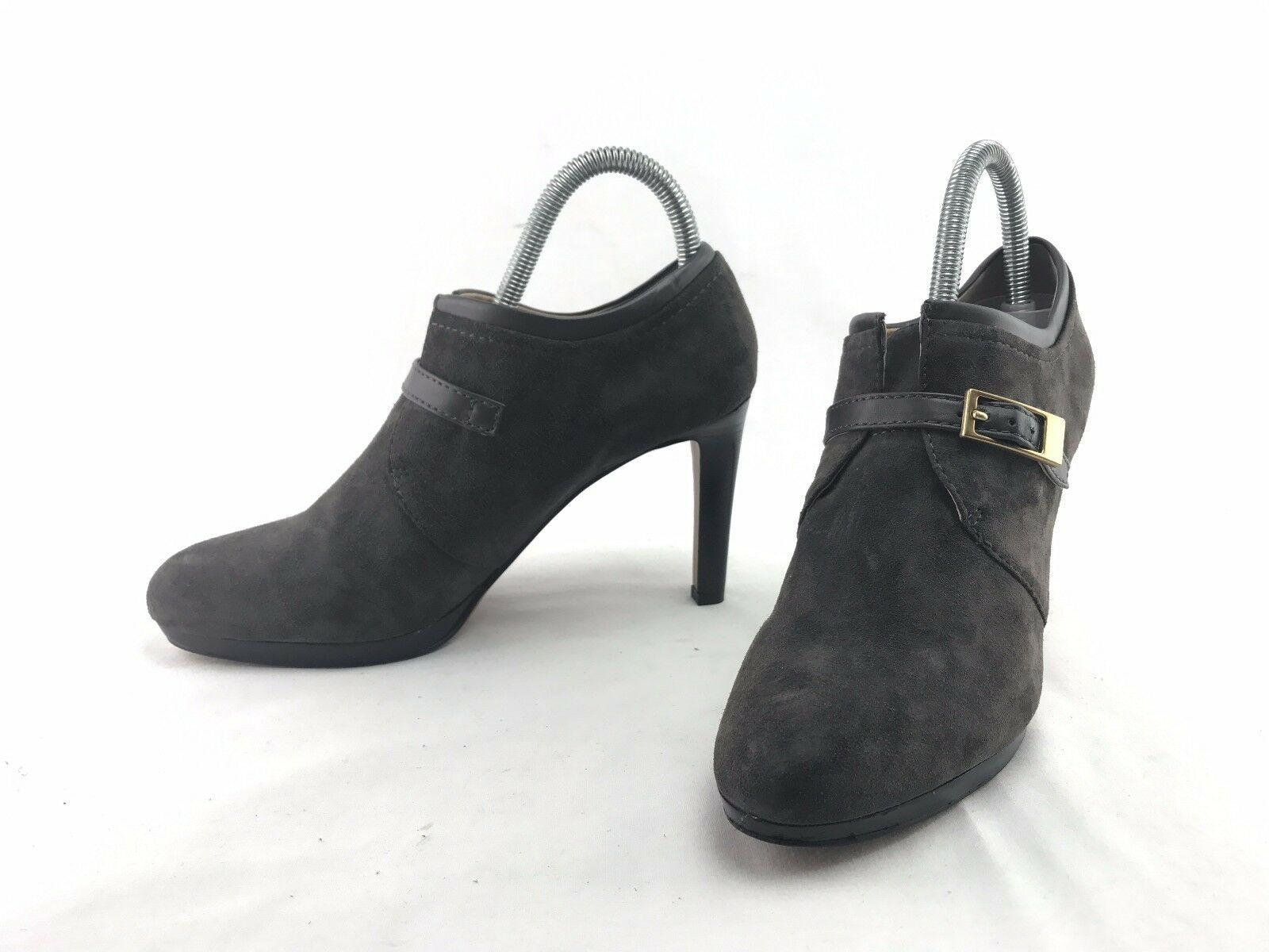 NEW Franco Sarto Sabelle Damens's Grau Suede Boot Heels Schuhes US Größe 8 M Schuhes Heels #A208 462d20