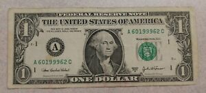 1-Dollar-Bill-Series-2003-A-Birth-Year-1999-Aniversary-20-years