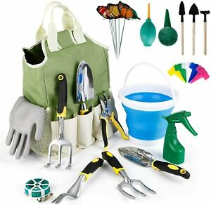 Garden Tools Set 34 Pc Heavy Duty Aluminum Gardening Tools Kit with Storage Bag