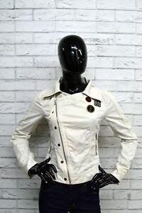 Giacca-Donna-DIESEL-Taglia-Size-S-Jacket-Woman-Blazer-Cotone-Bianco-Giubbino