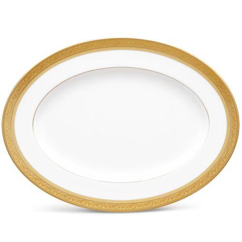 Noritake Summit Gold 12 Inch Serving Platter