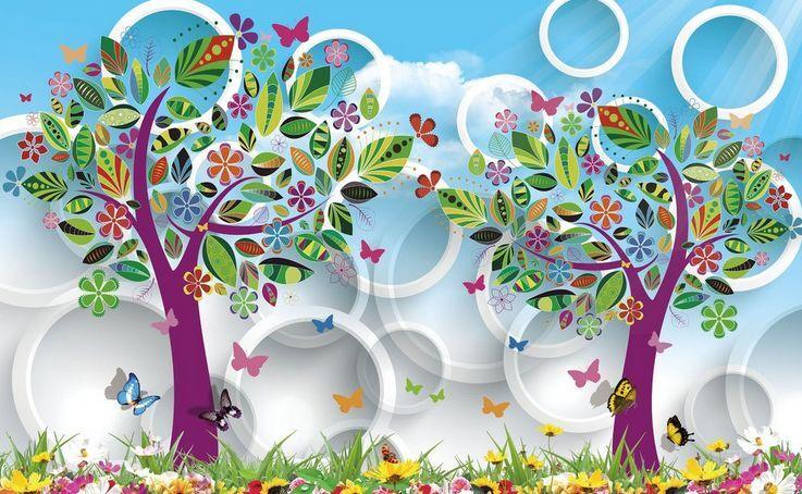 3DButterfly Tree Art 401 Paper Wall Print Decal Wall Wall Murals AJ WALLPAPER GB