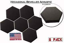 6 pack acoustic 2inch hexagonal beveled tiles wall panels
