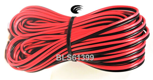 60/' ft Red Black 22 Gauge SPEAKER WIRE Cable Home Car Audio Wiring 12V DC Power