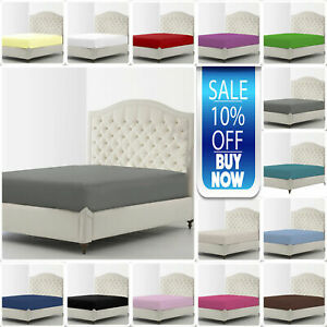Cama-hoja-lisa-resistente-ajustada-Diamante-Gama-Solo-Doble-King-s-king-doble-pequeno-4-ft-approx-1